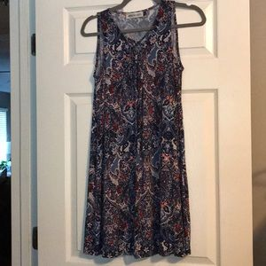 Veronica M Paisley Patterned Silk Dress (stretchy)